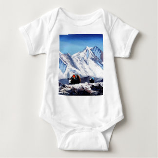 Panoramic View Of Everest Mountain Base Camp Area Baby Bodysuit