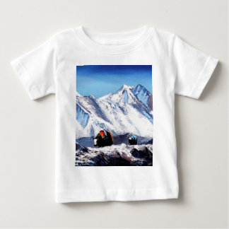 Panoramic View Of Everest Mountain Base Camp Area Baby T-Shirt