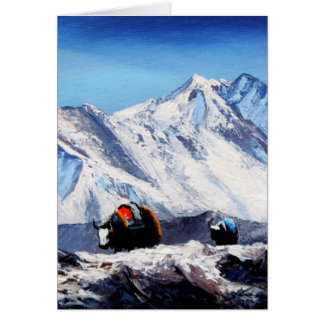 Panoramic View Of Everest Mountain Base Camp Area Card