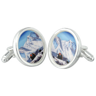 Panoramic View Of Everest Mountain Base Camp Area Cufflinks