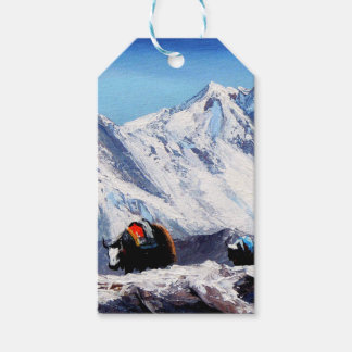 Panoramic View Of Everest Mountain Base Camp Area Gift Tags