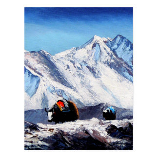 Panoramic View Of Everest Mountain Base Camp Area Postcard