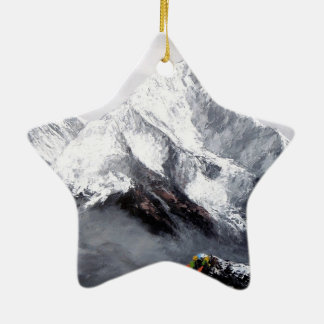 Panoramic View Of Everest Mountain Ceramic Star Ornament