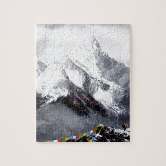 Panoramic View Of Everest Mountain Jigsaw Puzzle