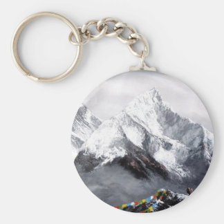 Panoramic View Of Everest Mountain Keychain