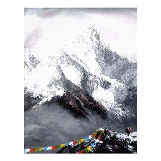 Panoramic View Of Everest Mountain Letterhead