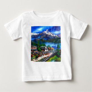 Panoramic View Of Everest Mountain Nepal Baby T-Shirt