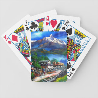 Panoramic View Of Everest Mountain Nepal Bicycle Playing Cards