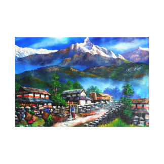 Panoramic View Of Everest Mountain Nepal Canvas Print