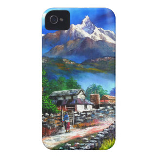 Panoramic View Of Everest Mountain Nepal iPhone 4 Case