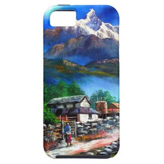 Panoramic View Of Everest Mountain Nepal iPhone 5 Cover