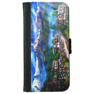 Panoramic View Of Everest Mountain Nepal iPhone 6 Wallet Case
