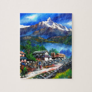 Panoramic View Of Everest Mountain Nepal Jigsaw Puzzle