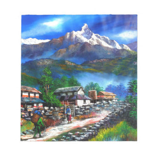 Panoramic View Of Everest Mountain Nepal Notepad