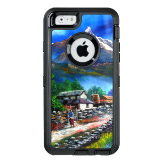 Panoramic View Of Everest Mountain Nepal OtterBox Defender iPhone Case