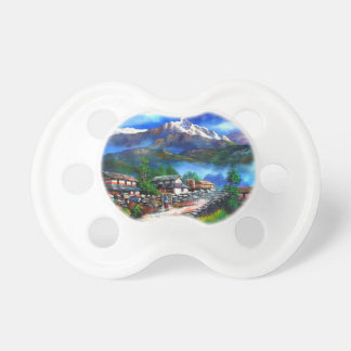 Panoramic View Of Everest Mountain Nepal Pacifier