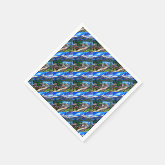 Panoramic View Of Everest Mountain Nepal Paper Napkins