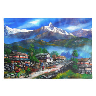 Panoramic View Of Everest Mountain Nepal Placemat