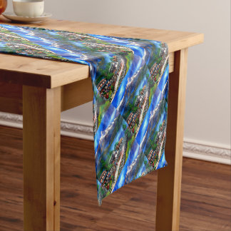 Panoramic View Of Everest Mountain Nepal Short Table Runner