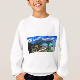 Panoramic View Of Everest Mountain Nepal Sweatshirt