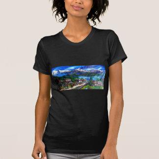 Panoramic View Of Everest Mountain Nepal T-Shirt