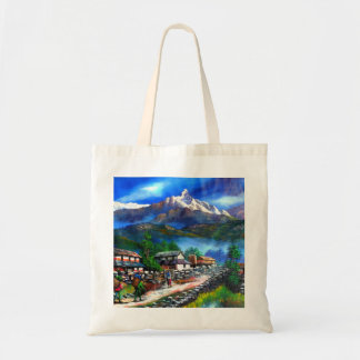 Panoramic View Of Everest Mountain Nepal Tote Bag