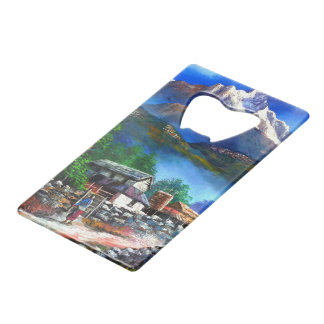 Panoramic View Of Everest Mountain Nepal Wallet Bottle Opener