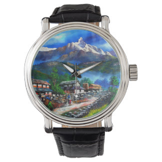 Panoramic View Of Everest Mountain Nepal Watch