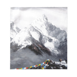 Panoramic View Of Everest Mountain Notepad