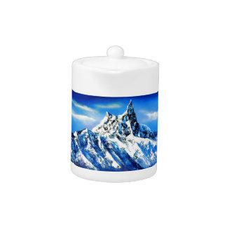 Panoramic View Of Everest Mountain Peak