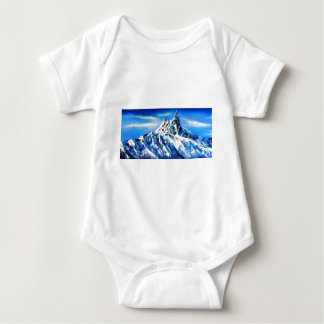Panoramic View Of Everest Mountain Peak Baby Bodysuit