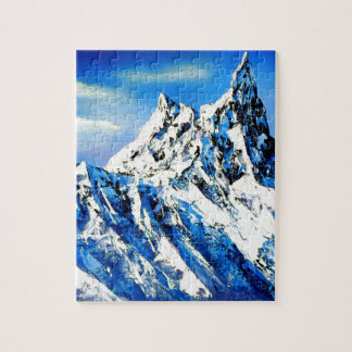 Panoramic View Of Everest Mountain Peak Jigsaw Puzzle