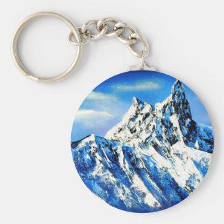 Panoramic View Of Everest Mountain Peak Keychain