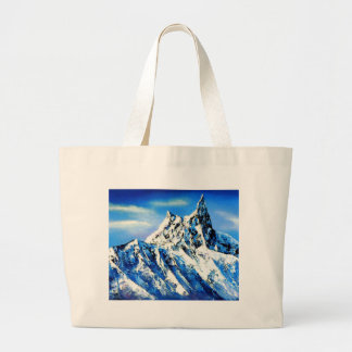 Panoramic View Of Everest Mountain Peak Large Tote Bag