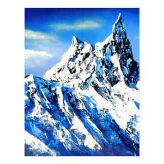 Panoramic View Of Everest Mountain Peak Letterhead