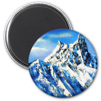 Panoramic View Of Everest Mountain Peak Magnet