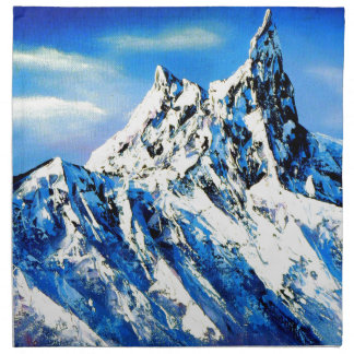 Panoramic View Of Everest Mountain Peak Napkin