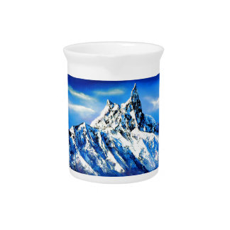 Panoramic View Of Everest Mountain Peak Pitcher