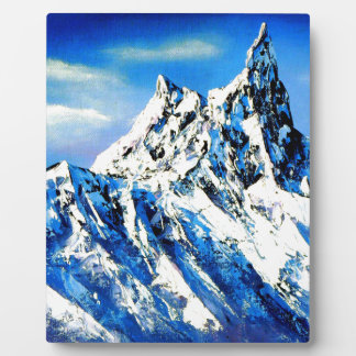 Panoramic View Of Everest Mountain Peak Plaque