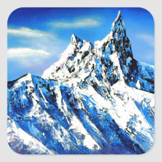 Panoramic View Of Everest Mountain Peak Square Sticker