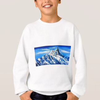 Panoramic View Of Everest Mountain Peak Sweatshirt