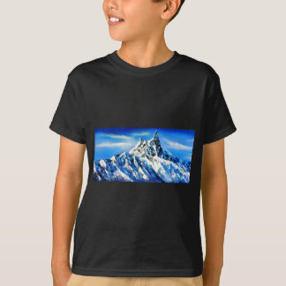 Panoramic View Of Everest Mountain Peak T-Shirt