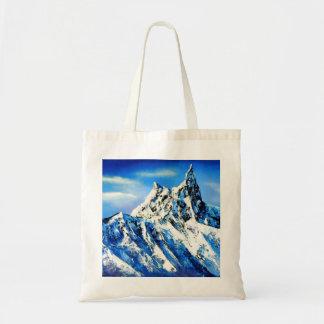 Panoramic View Of Everest Mountain Peak Tote Bag