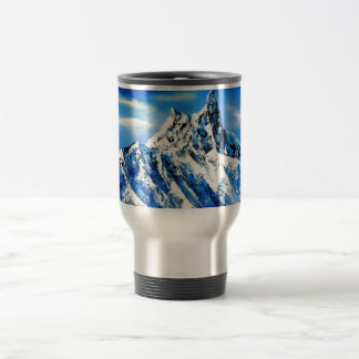 Panoramic View Of Everest Mountain Peak Travel Mug