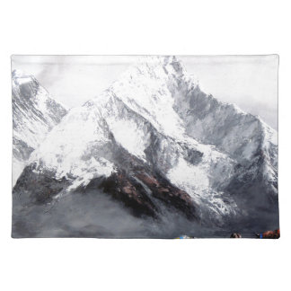 Panoramic View Of Everest Mountain Place Mat