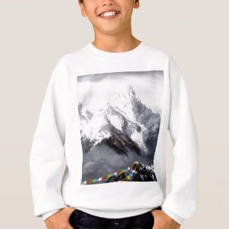 Panoramic View Of Everest Mountain Sweatshirt