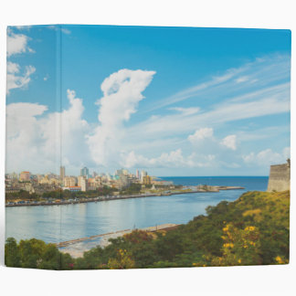 Panoramic View Of Havana, Cuba 3 Ring Binder