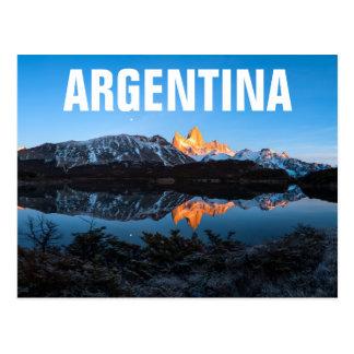 Panoramic View Of Lake Capri, Patagonia Postcard