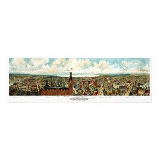 Panoramic View of Milwaukee Wisconsin 1898 Photograph