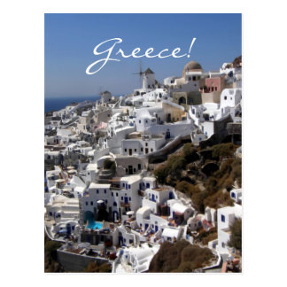 Panoramic view of Oia, Greece Postcard